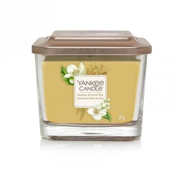 Elevation średnia świeca Jasmine & Sweet Hay Yankee Candle