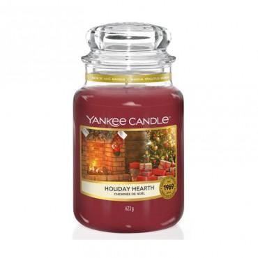Duża świeca Holiday Hearth Yankee Candle
