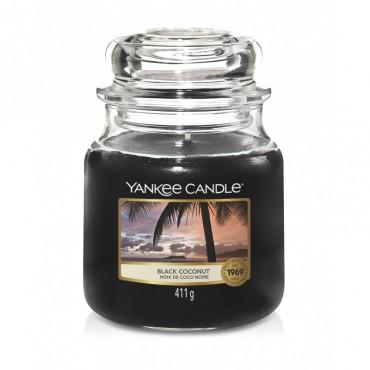 Średnia świeca Black Coconut Yankee Candle