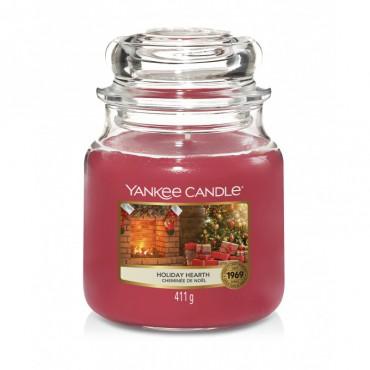 Średnia świeca Holiday Hearth Yankee Candle