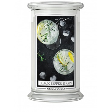 Duża świeca Black Pepper Gin Kringle Candle