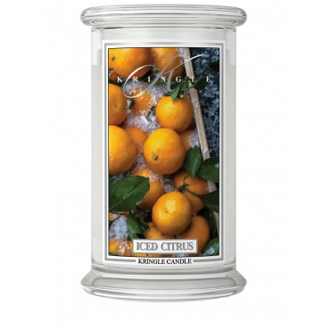 Duża świeca Iced Citrus Kringle Candle