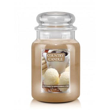 Duża świeca Coconut Marshmallow Country Candle