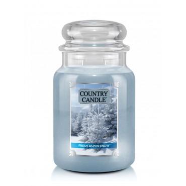 Duża świeca Fresh Aspen Snow Country Candle