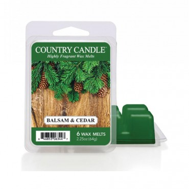 Wosk zapachowy Balsam & Cedar Country Candle