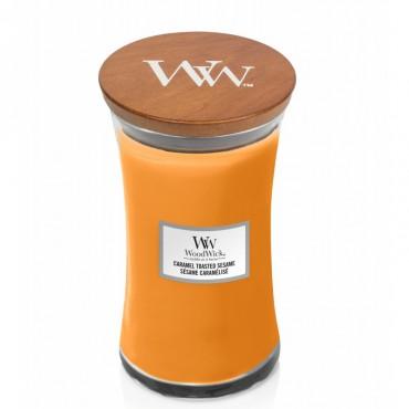 Duża Świeca Caramel Toasted Sesame WoodWick