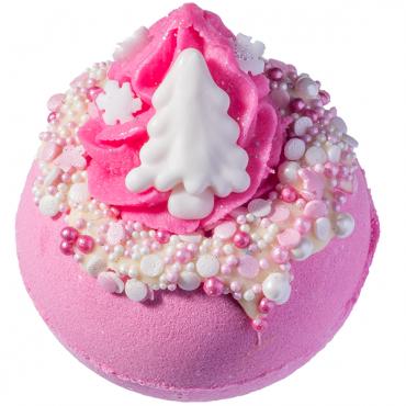 Musująca kula do kąpieli Różowe Święta Bomb Cosmetics