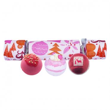 Zestaw upominkowy w kształcie cukierka We Wish You a Rosy Christmas Bomb Cosmetics