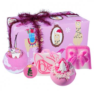 Zestaw upominkowy Fleece Navidad Festive Bomb Cosmetics