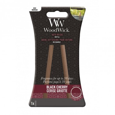 Pałeczki zapachowe do samochodu uzupełniacz Black Cherry Woodwick
