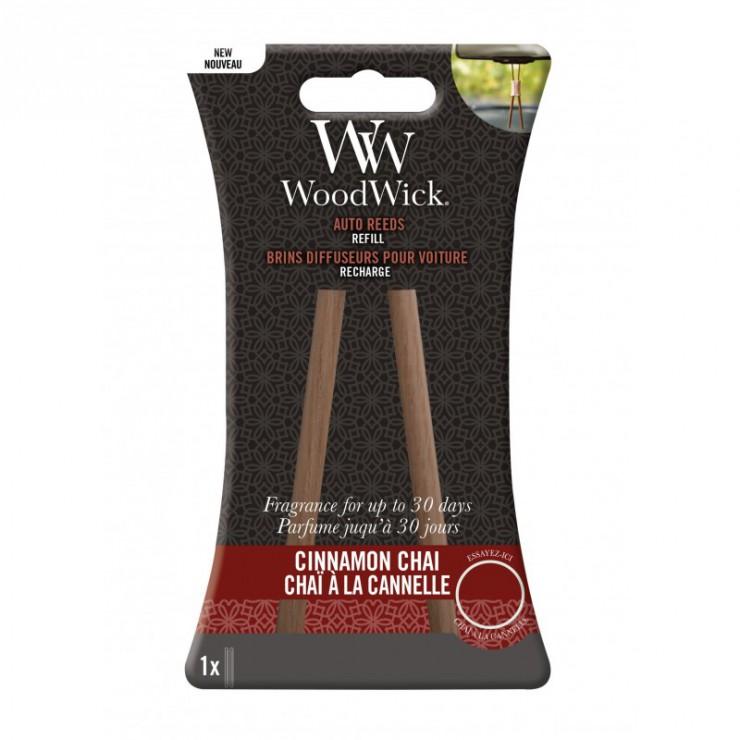 Pałeczki zapachowe do samochodu uzupełniacz Cinnamon Chai Woodwick