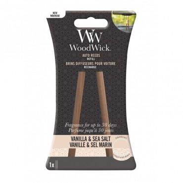 Pałeczki zapachowe do samochodu uzupełniacz Vanilla & Sea Salt Woodwick