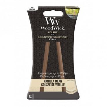Pałeczki zapachowe do samochodu uzupełniacz Vanilla Bean Woodwick