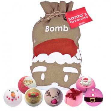 Zestaw upominkowy worek Św. Mikołaja Santa`s Favourite Bomb Cosmetics