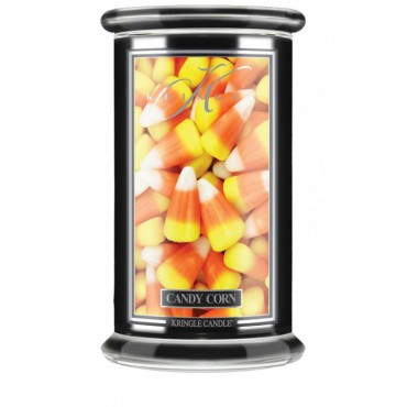 Duża świeca Candy Corn Kringle Candle