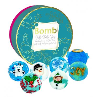 Zestaw maślanych kuleczek do kąpieli Radosny Dzień Bomb Cosmetics
