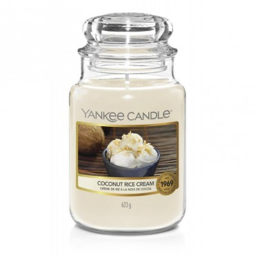 Duża świeca Coconut Rice Cream Yankee Candle