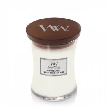 Średnia świeca Coconut & Tonka Woodwick